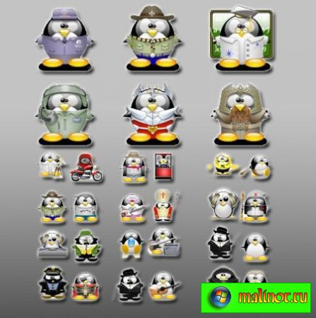 Linux Penguings Icons