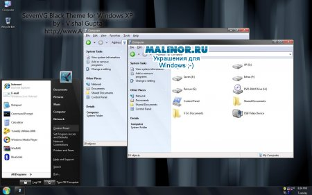 Windows Seven Black для Windows XP