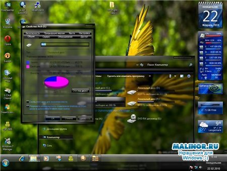 MidNight (Full Glass) Theme for Windows 7