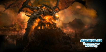 WoW Cataclysm скринсейвер Deathwing