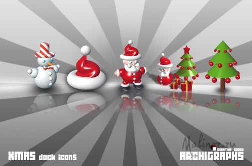 Archigraphs Xmas Dock Icons