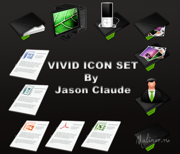 vivid icon set by jasonclaude